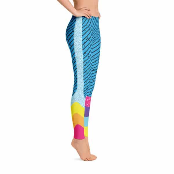 90s Style Diagonal Print Leggings by Treaja