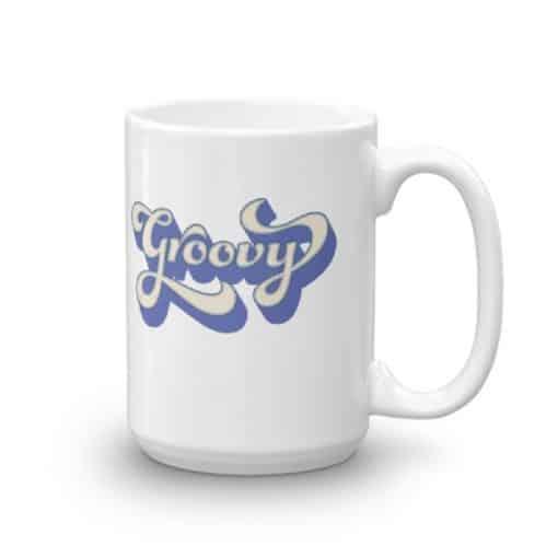 Groovy Coffee Mug | Retro Vintage 70s Style Mugs by Treaja