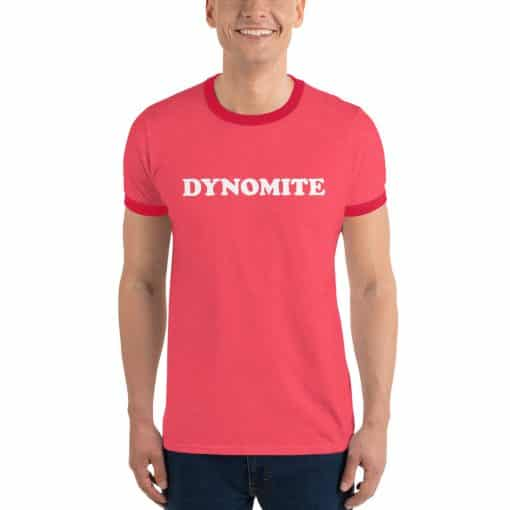 Dynomite Vintage Slogan Red Ringer T-Shirt by Treaja®