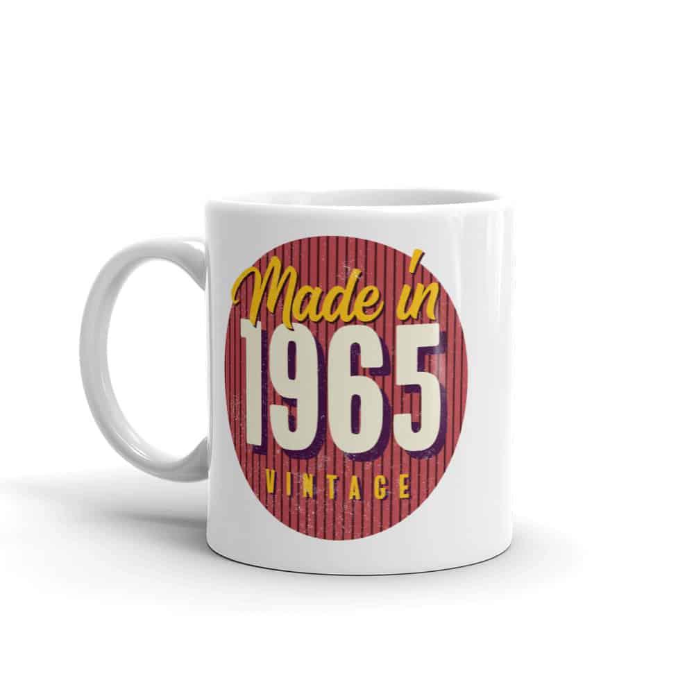 Made in 1965 Birthday Mug by Treaja®