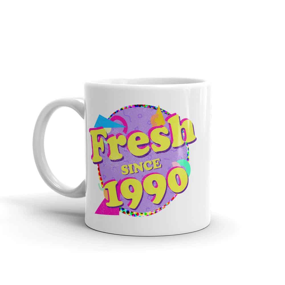 Fresh since 1990 90s Style Birthday Mug by Treaja®