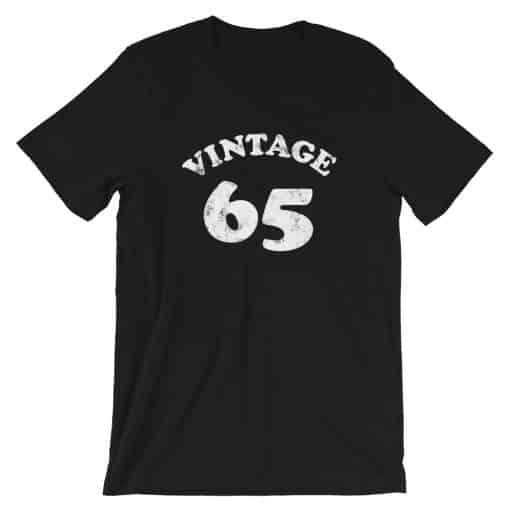 Vintage 65 Year Old Birthday Shirt by Treaja®