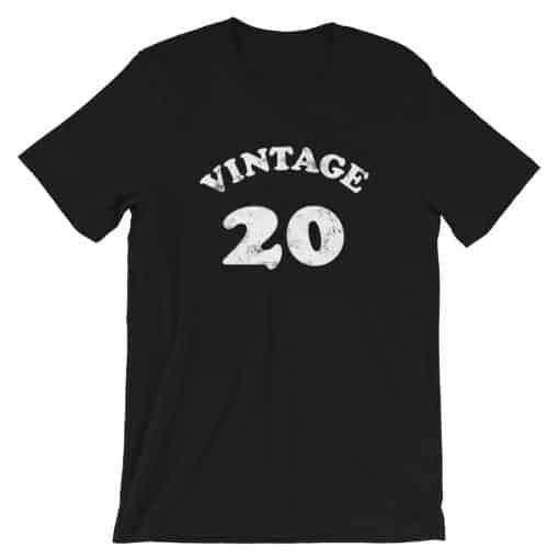 Vintage 20 Year Old Birthday Shirt by Treaja®