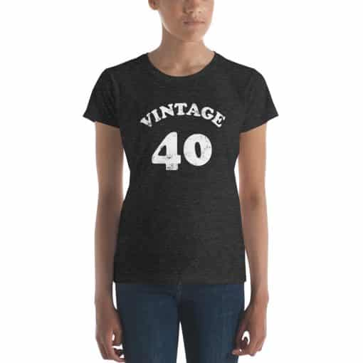 Women's Vintage 40 Year Old Birthday Shirt by Treaja®
