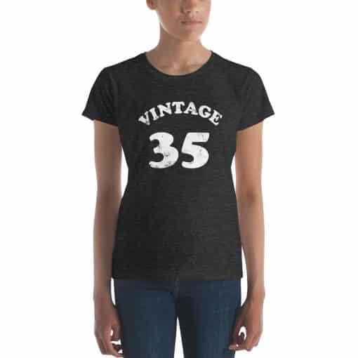 Women's Vintage 35 Year Old Birthday Shirt by Treaja®