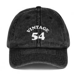 1954 Birthday Vintage Cap by Treaja® | Retro 65th Birthday Distressed Vintage Dad Hat