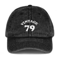 1979 Birthday Vintage Cap by Treaja® | Retro 40th Birthday Distressed Vintage Dad Hat
