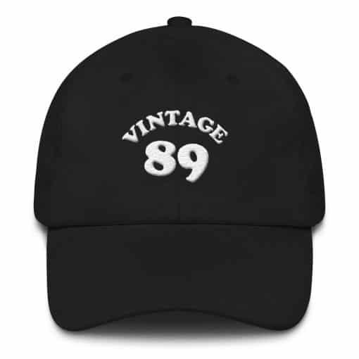 Vintage 1989 Birthday Cap by Treaja® | Retro 31st birthday Low Profile Dad Hat
