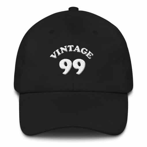 Vintage 1999 Birthday Cap by Treaja® | Retro 21st Birthday Low Profile Dad Hat