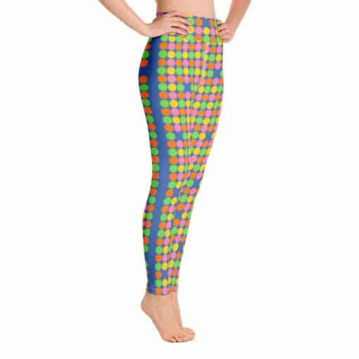 Women's Neon Polka Dot 60s Style Yoga Leggings