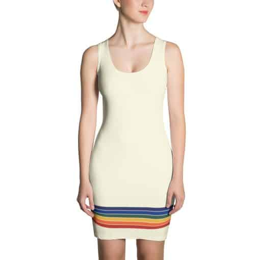 Treaja® Vintage Rainbow Stripe Dress