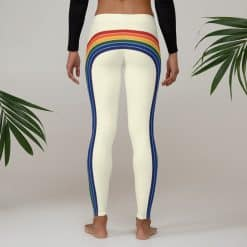 Treaja® Women's Vintage Rainbow Side Striped Leggings