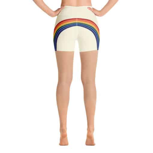 Treaja® Women's Vintage Rainbow Side Striped Yoga Shorts