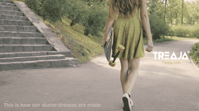 Neon Polka Dot 60s Style Skater Dress by Treaja