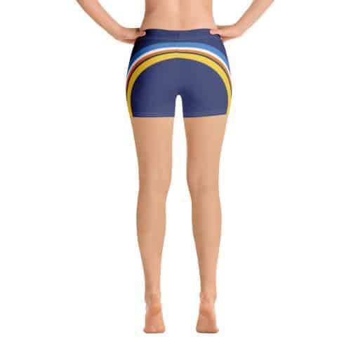 Treaja® Women's Vintage Blue Side Striped Shorts