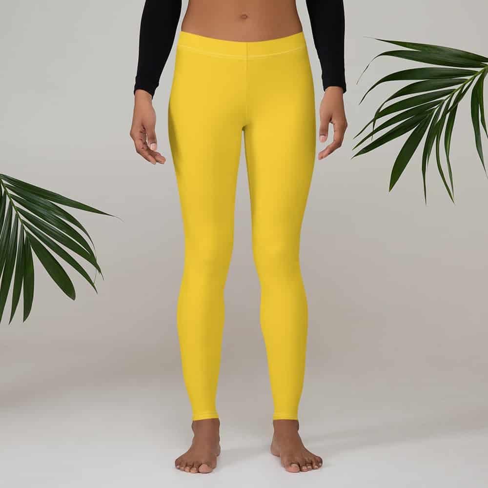 Solid Mustard Yellow Leggings by Treaja® | Solid Color Leggings for Women