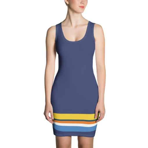 Treaja® Vintage Blue Striped Dress