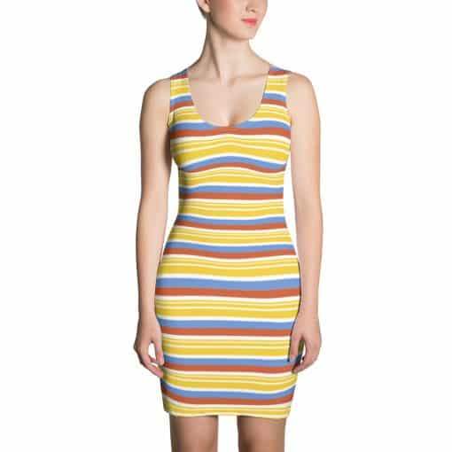 Vintage Yellow Striped Dress by Treaja®
