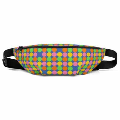 Neon Polka Dot 60s Style Fanny Pack by Treaja®