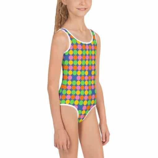 Neon Polka Dot Kids Swimsuit by Treaja®