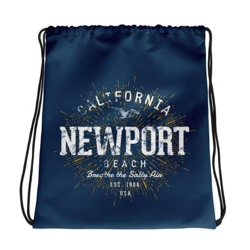 Newport Beach Drawstring Bag Vintage Style by Treaja®