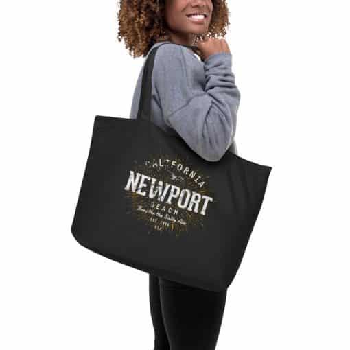 Newport Beach Organic Large Tote Bage by Treaja® | Vintage Organic Cotton Tote Bag