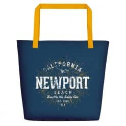 Newport Beach Bag by Treaja® | Vintage Beach Tote Bag