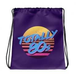 Totally 80s Drawstring Bag Retro 80s Style by Treaja®