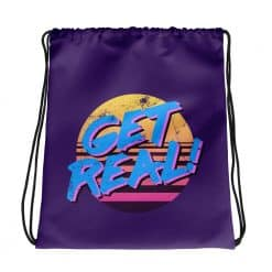 Get Real Drawstring Bag Retro 80s Style by Treaja®