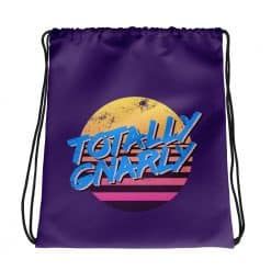 Totally Gnarly Drawstring Bag Retro 80s Style by Treaja®