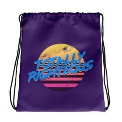 Totally Righteous Drawstring Bag Retro 80s Style by Treaja®