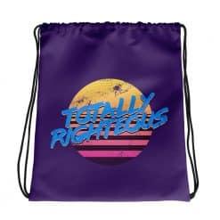 Totally Righteous Drawstring Bag Retro 80s Style by Treaja®