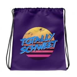 Totally Schweet Drawstring Bag Retro 80s Style by Treaja®