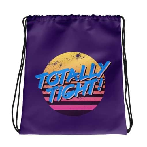 Totally Tight Drawstring Bag Retro 80s Style by Treaja®