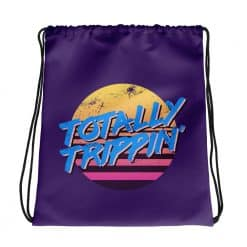 Totally Trippin' Drawstring Bag Retro 80s Style by Treaja®