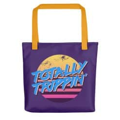Totally Trippin' Tote Bag by Treaja® | Purple 80s Style Tote Bag