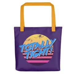Totally Tight Tote Bag by Treaja® | Purple 80s Style Tote Bag