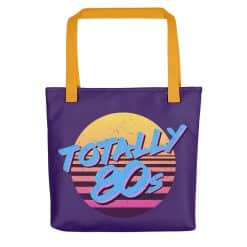 Totally 80s Tote Bag by Treaja® | Retro 80s Style Tote Bag