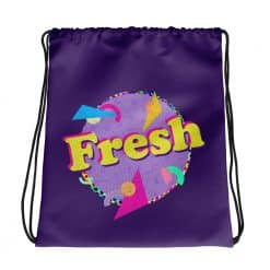Fresh Drawstring Bag Retro 90s Style by Treaja®
