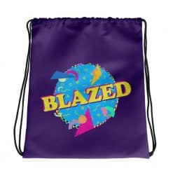 Blazed Drawstring Bag Retro 90s Style by Treaja®
