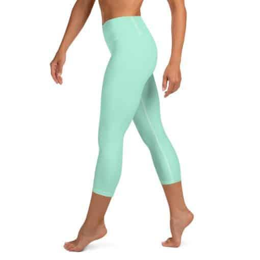 Mint Green Yoga Capri Leggings by Treaja®