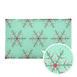 Fencing Pillowcase by Treaja® | Reversible Mint/Red Christmas Pillow Cover (without Stuffing)