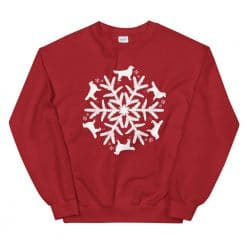Golden Retriever Sweatshirt by Treaja® | Unisex Christmas Snowflake Sweatshirt