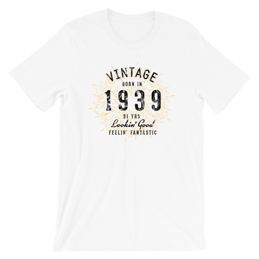 Born in 1939 T-Shirt by Treaja® | Vintage 81st birthday Shirt