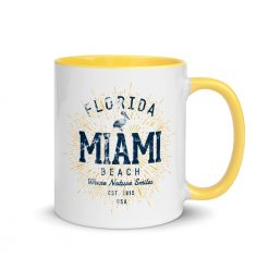 Miami Beach Mug with Colored Interior by Treaja®