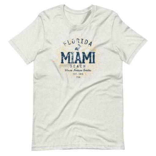 Miami Beach T-Shirt by Treaja® | Unisex Vintage Miami Beach Shirt