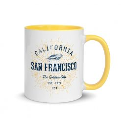 San Francisco Mug with Colored Interior by Treaja®