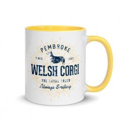 Pembroke Welsh Corgi Mug with Colored Interior by Treaja®