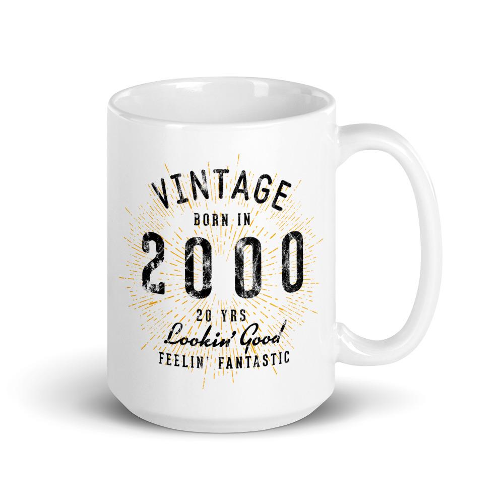 Vintage 20th Birthday Mug by Treaja®