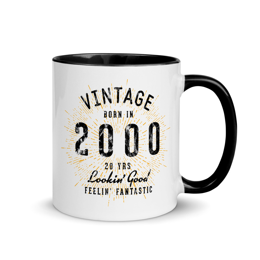 20th Birthday Mug with Colored Interior by Treaja®